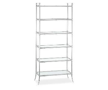 Williams Sonoma Home Tyler Etagere Bookcase in Nickel Finish