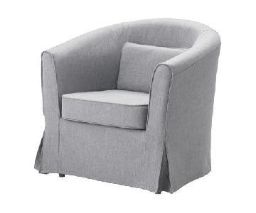 Ikea Tullsta Nordvalla Grey Armchairs
