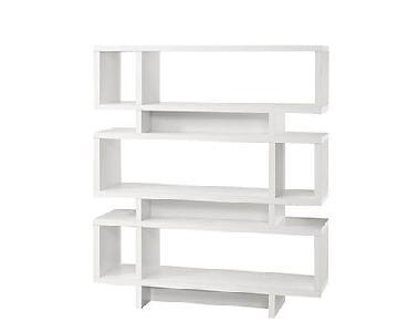 White Wood Bookcase