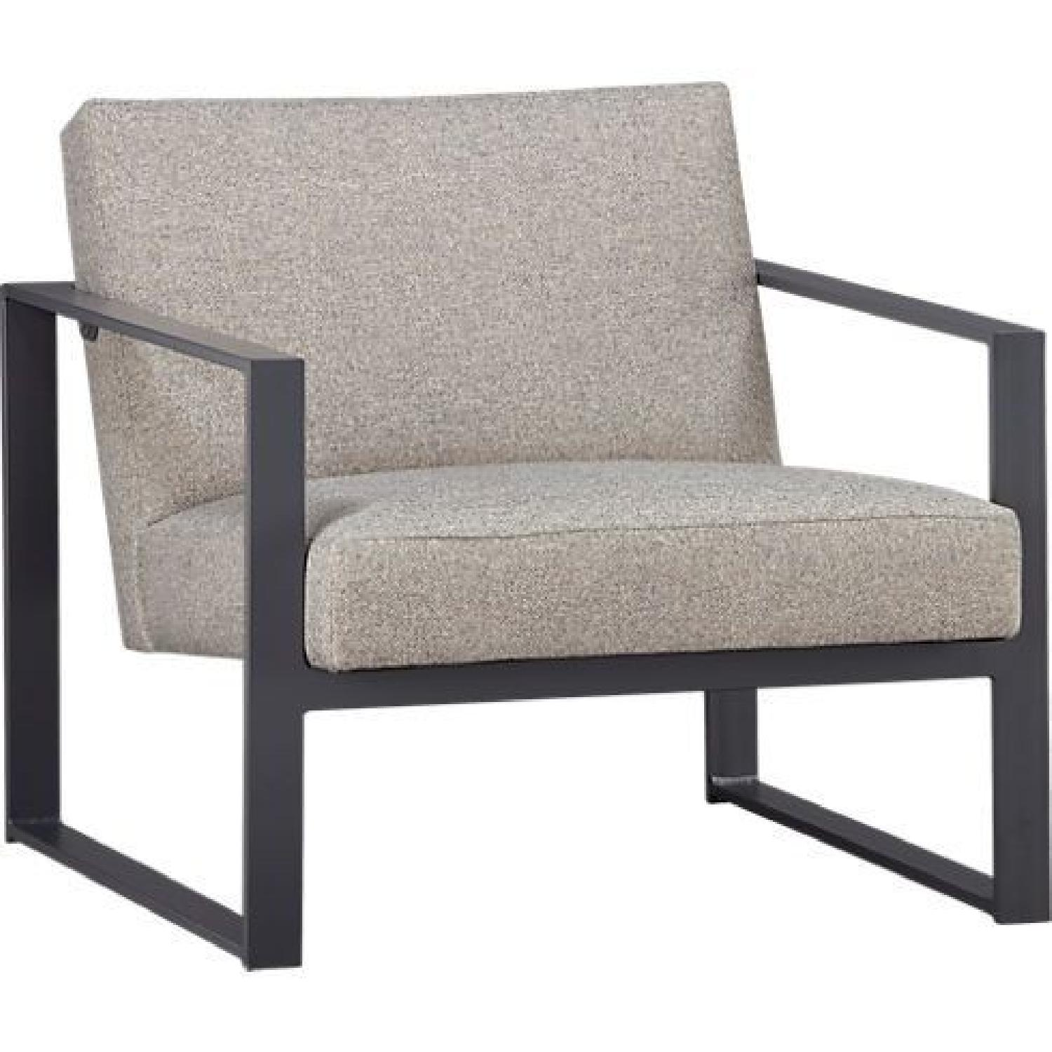 CB2 Flax Gray Accent Chair ...