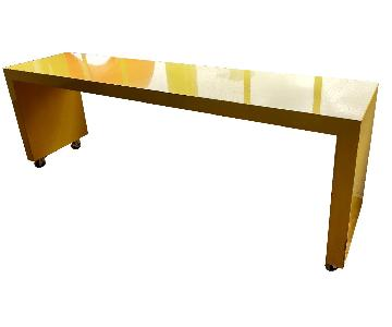 Laquer Yellow Console Table