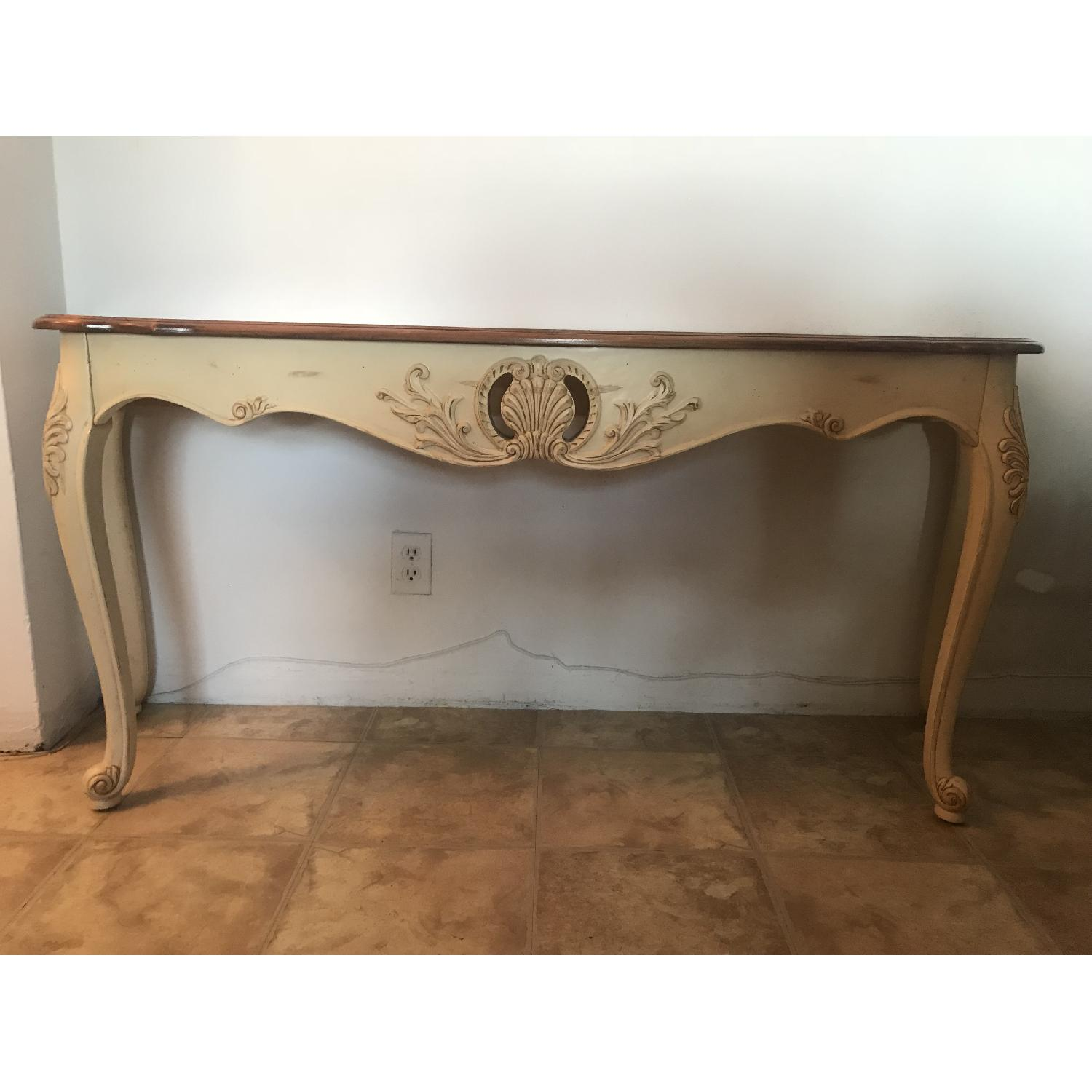 ... Ethan Allen Legacy French Country Provincial Console Table 0 ...