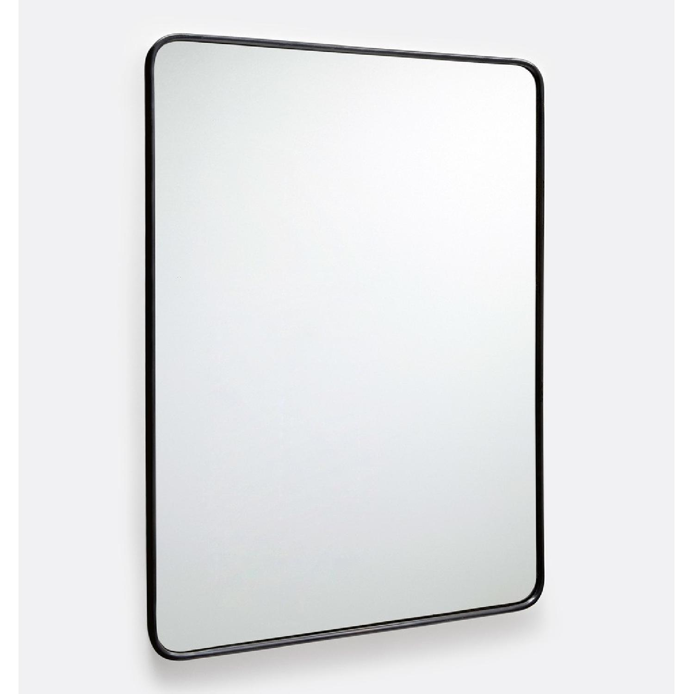 Rejuvenation Rounded Metal Framed Mirror - AptDeco