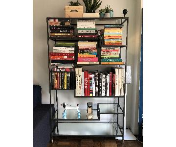 West Elm Tiered Tower Bookcase in Antique Bronze