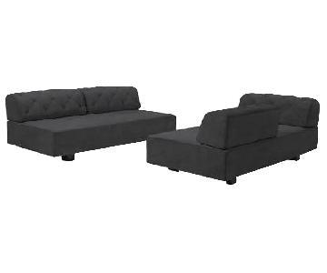 West Elm Tillary Tufted Sectional Sofa