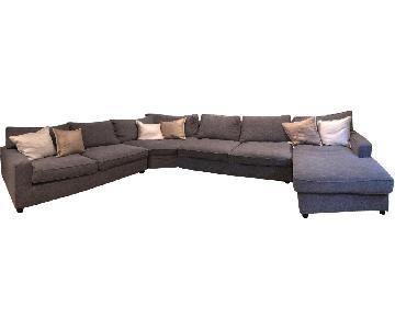 Pottery Barn PB Comfort Upholstered 3 Piece Sectional Sofa