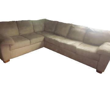 Jennifer Convertibles Microfiber Sectional Sofa