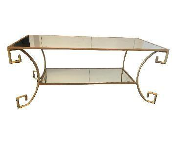 Design Within Reach Mirror & Gold Coffee Table