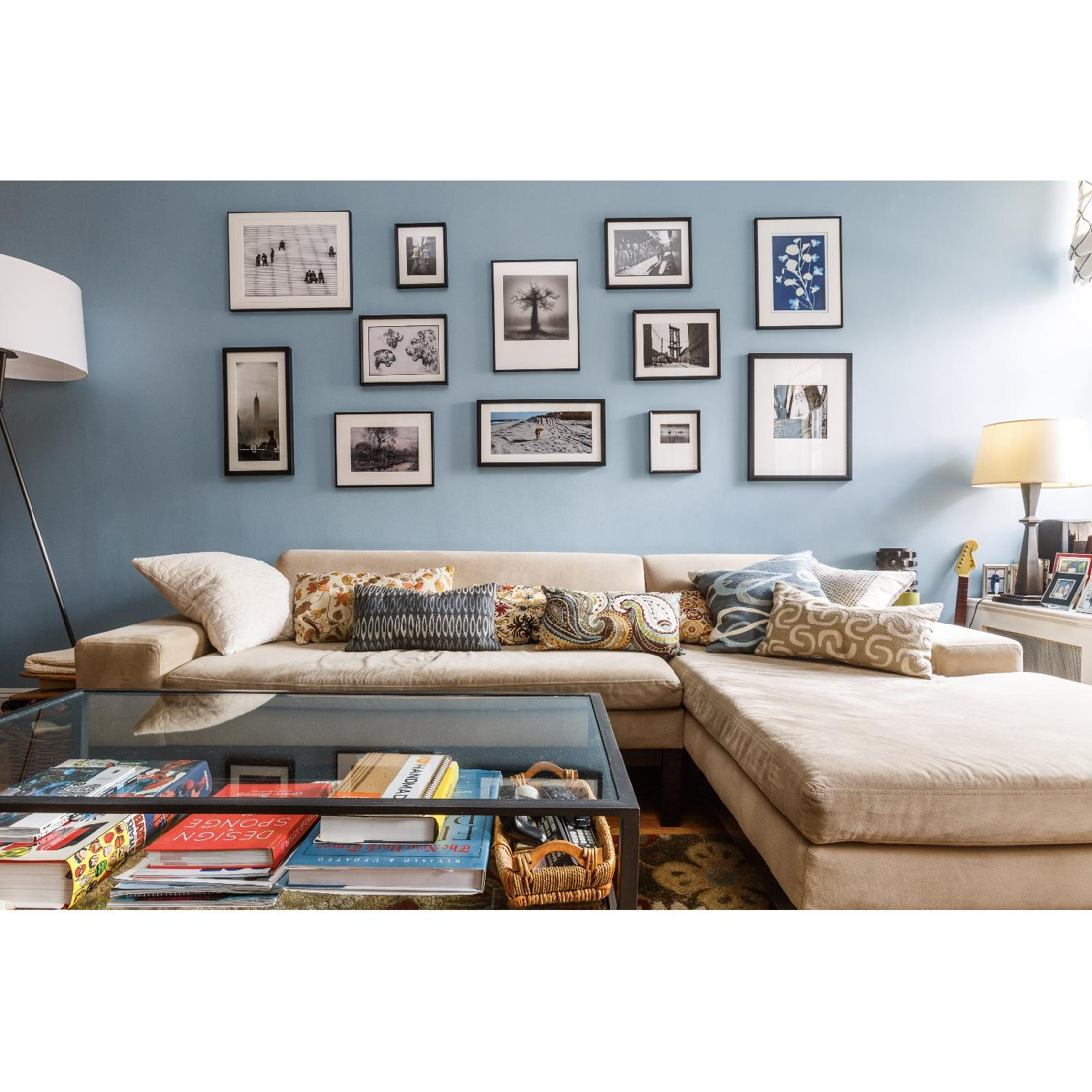 ... West Elm Lorimer Sectional Sofa W/ Right Chaise 0 ...