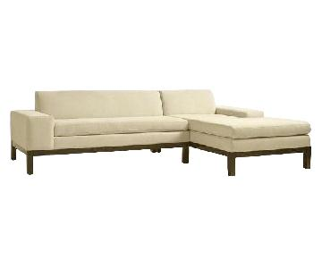 West Elm Lorimer Sectional Sofa w/ Right Chaise