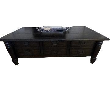 Pottery Barn Coffee Table + Media Console + End Table