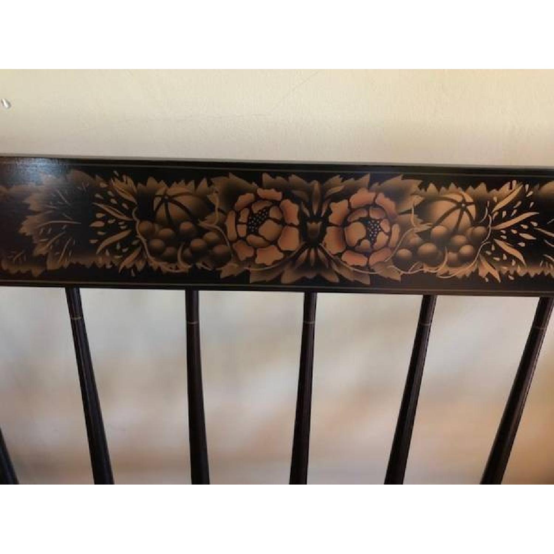 Black & Tan Bench w/ Floral Pattern-3