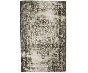 West Elm Distressed Arabesque Wool Rug