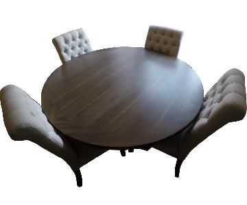 Restoration Hardware 17th C. Round Dining Table w/ 4 Chairs