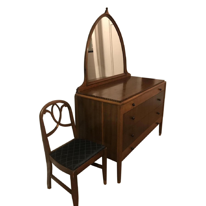 Genial Star Furniture Art Nouveau Dresser W/ Mirror U0026 Chair ...