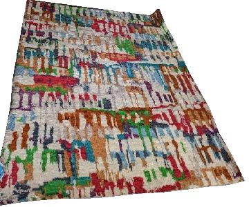 ABC Carpet and Home Moroccan Style Handmade Wool Rug