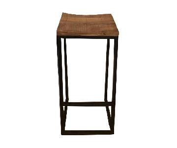 Nadeau Furniture Rustic Wood & Metal Barstools
