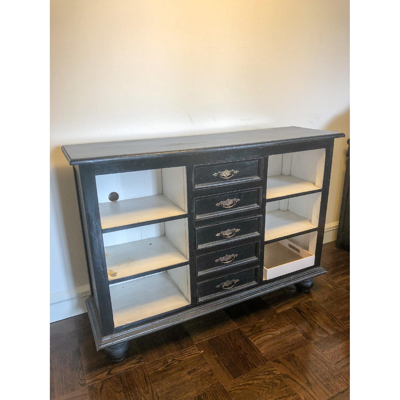 ... Black Vintage Style Sideboard/Media Storage 1 ...