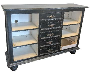 Black Vintage Style Sideboard/Media Storage