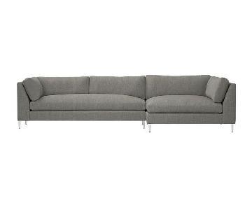 CB2 Decker 2-Piece Sectional Sofa