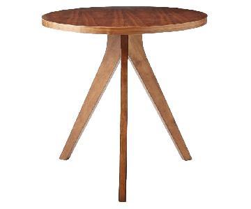 West Elm Walnut Circular Tripod Bistro Table