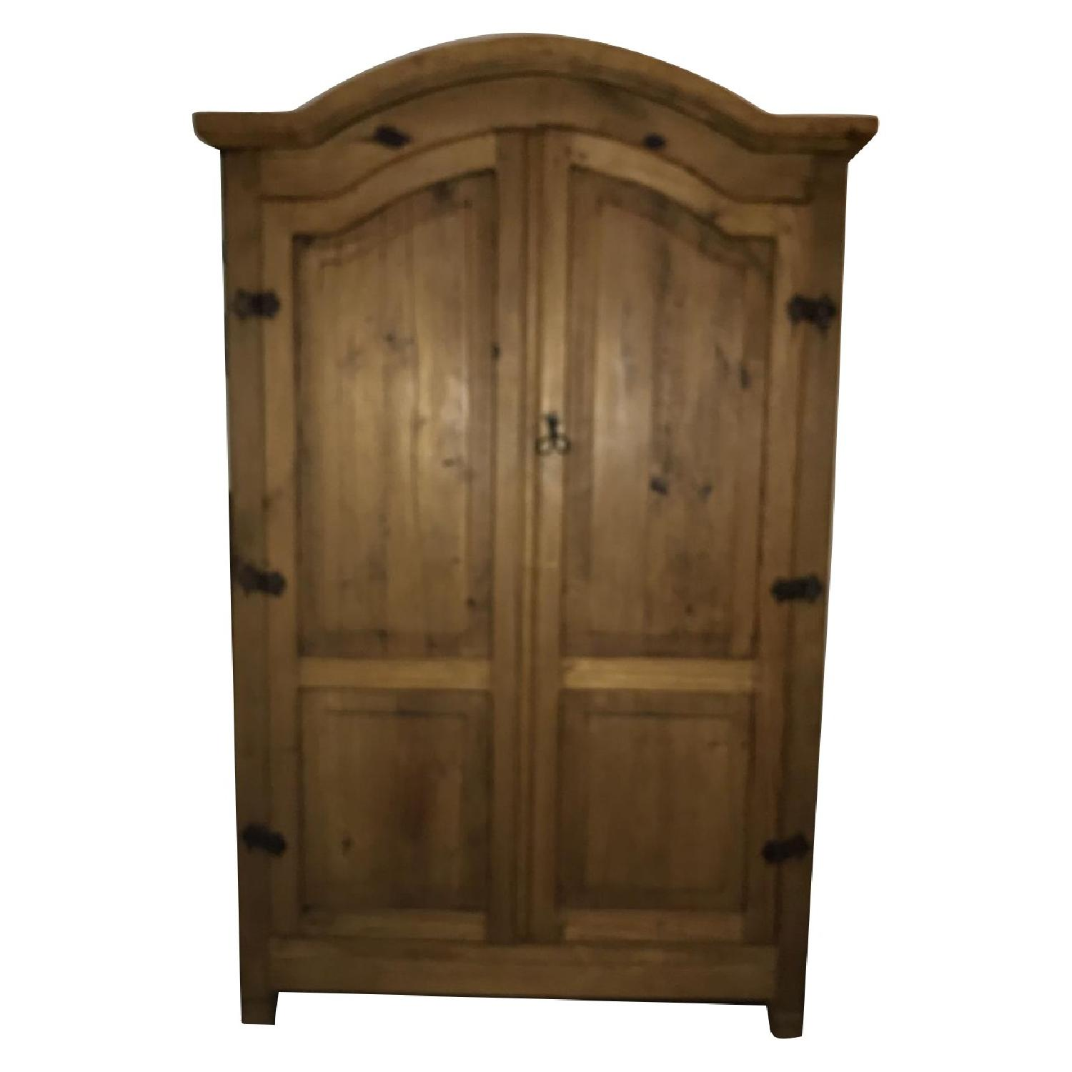 Pottery Barn Rustic Pine Armoire