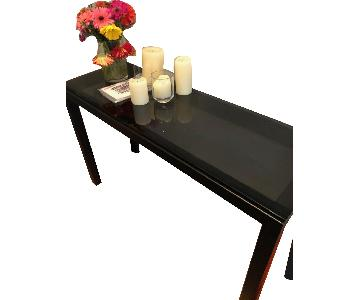 Glass & Black Console Table