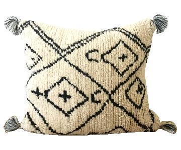 Vintage Textile Beni Ourain Tassel Pillow