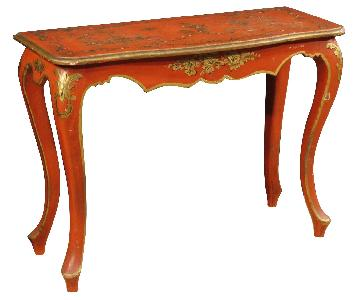 Lacquered & Golden Chinoiserie Spanish Console