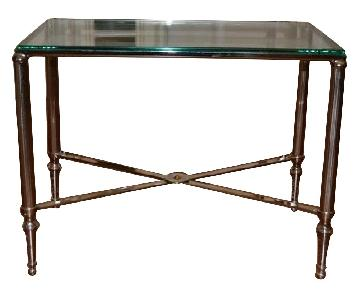 Williams Sonoma Glass End Tables