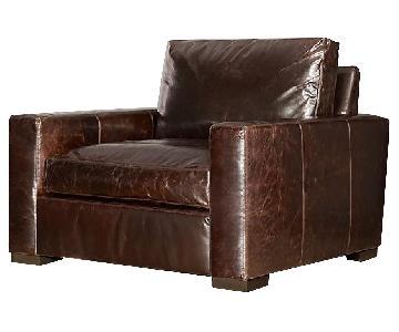Restoration Hardware Vintage Custom Leather Chair