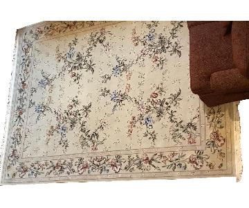 Wool Floral Area Rug