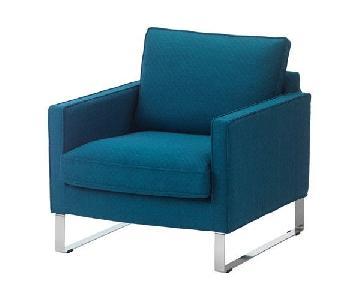 Ikea Mellby Armchair in Blue