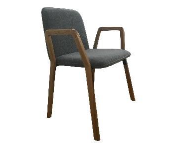 CB2 Wood Frame Chair