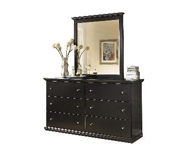 Ashley Maribel Black Wood Dresser w/ Mirror