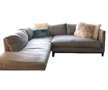 Lee Industries Custom Made 2-Piece Sectional Sofa