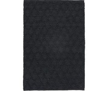 CB2 Carat Black Jute Area Rug