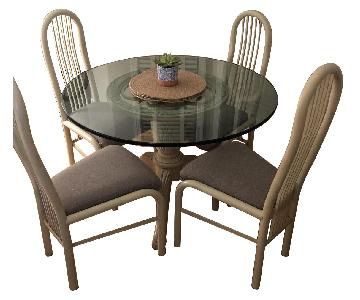 Glass Dining Table w/ 4 Chairs