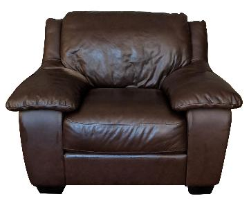 Macy's Italsofa Brown Leather Chair