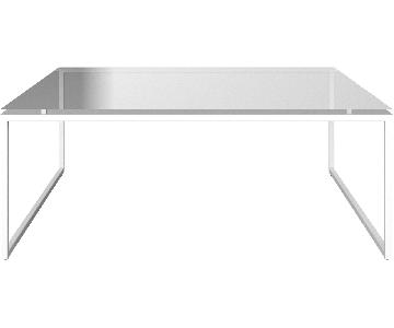 BoConcept Glass & Metal Square Coffee Table