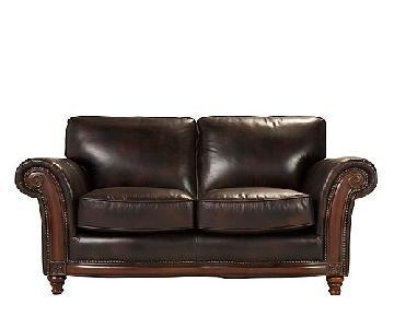 Raymour & Flanigan Brookshire Leather Loveseat