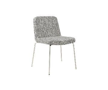 CB2 Grey Tweed Charlie Chairs