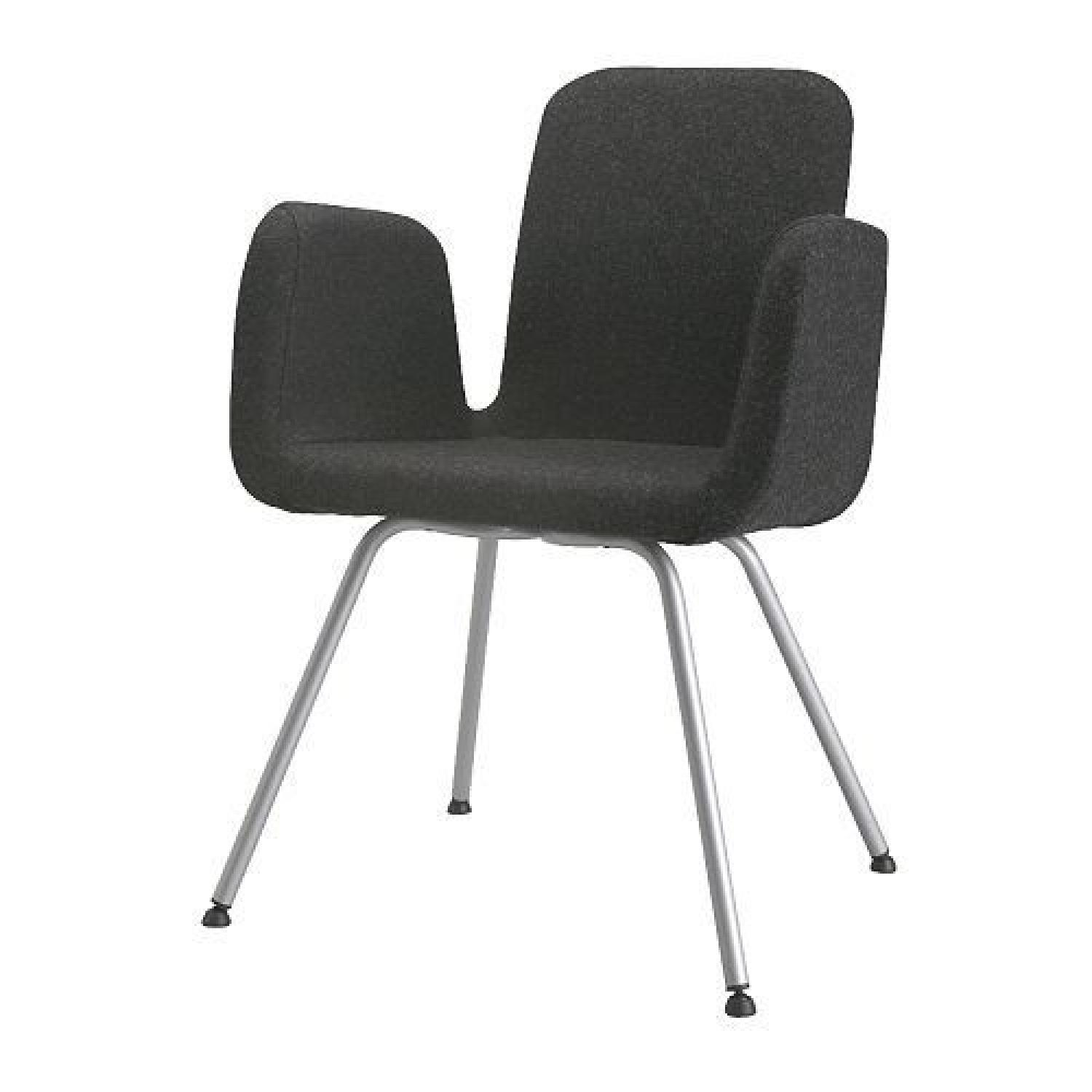 Ikea Charcoal Grey Wool Felt Office/Side Chair ...