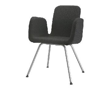 Ikea Charcoal Grey Wool Felt Office/Side Chair