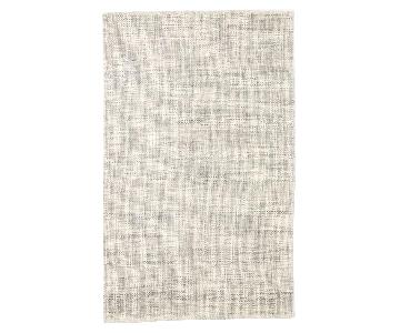 West Elm Grey Heathered Basketweave Rug