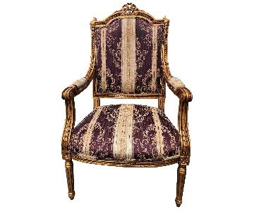 Andre Marie Antoinette Style Armchairs