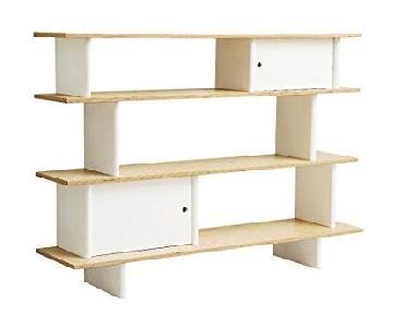 Oeuf Mini Library Bookcase in White/Birch