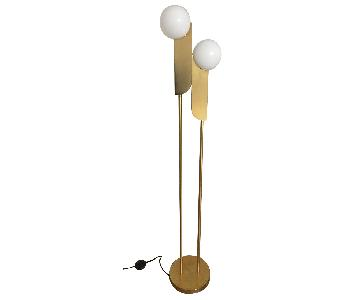 West Elm Bower LED Floor Lamp in Brass