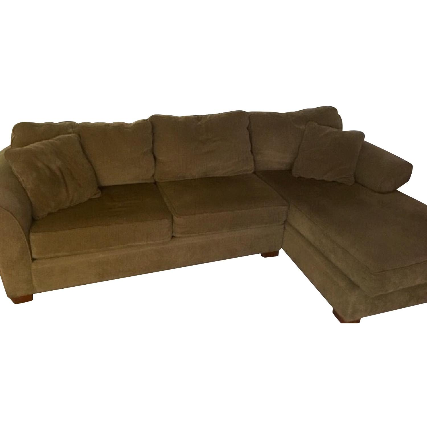 Picture of: Macy S Olive Green 2 Piece Chaise Sectional Sofa Aptdeco