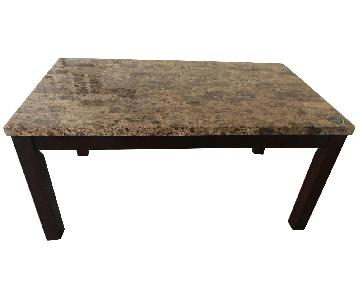 Raymour & Flanigan Bedrock Marble Dining Table